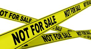 όχι πώληση Κίτρινες ταινίες προειδοποίησης διανυσματική απεικόνιση