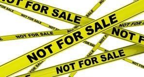 όχι πώληση Κίτρινες ταινίες προειδοποίησης απεικόνιση αποθεμάτων