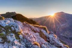όψη ανατολής της Πολωνίας 1257 υψηλή μετρητών βουνών βουνών skrzyczne στοκ φωτογραφίες με δικαίωμα ελεύθερης χρήσης