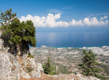 Όψη από τα βουνά Pentadactylos Στοκ φωτογραφία με δικαίωμα ελεύθερης χρήσης