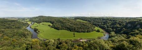 Όψη από το βράχο Symonds Yat, Herefordshire Στοκ εικόνα με δικαίωμα ελεύθερης χρήσης