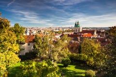 Όψη από το Κάστρο της Πράγας Στοκ Εικόνες
