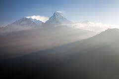 Όψη από το Hill Poon σημείου όψης σε Annapurna Στοκ φωτογραφία με δικαίωμα ελεύθερης χρήσης