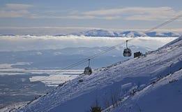 Όψη από το pleso Skalnate - Tarn σε υψηλό Tatras Στοκ Εικόνες