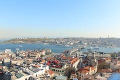 Όψη από Galata τον πύργο, Τουρκία Στοκ Εικόνες