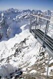 Όψη από Lomnicky stit - αιχμή σε υψηλό Tatras Στοκ Φωτογραφία