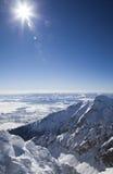 Όψη από Lomnicky stit - οξύνετε σε υψηλό Tatras Στοκ Εικόνες