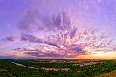 Όψη από Pech Δαβίδ, Τουλούζη (Γαλλία) στοκ εικόνα με δικαίωμα ελεύθερης χρήσης