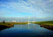 Όψη από Spijksterpompen Στοκ φωτογραφία με δικαίωμα ελεύθερης χρήσης