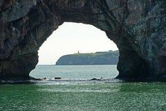 όψη βράχου φάρων τρυπών perce Στοκ Εικόνα