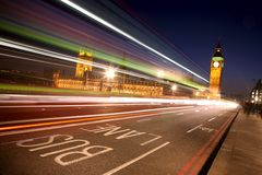 όψη Γουέστμινστερ νύχτας τ&om Στοκ εικόνες με δικαίωμα ελεύθερης χρήσης