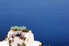 Όψη διακοπών από το patio Στοκ Φωτογραφίες