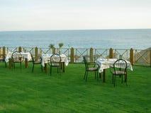 όψη θάλασσας εστιατορίων Στοκ φωτογραφίες με δικαίωμα ελεύθερης χρήσης