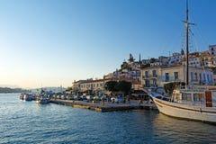 όψη θάλασσας poros νησιών της Ελλάδας Στοκ Εικόνες