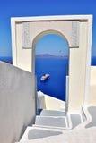 Όψη θάλασσας Santorini Στοκ Εικόνες