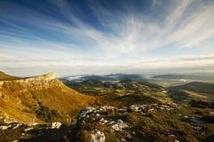 Όψη κοιλάδων στην ανατολή από την οροσειρά Salvada Στοκ εικόνα με δικαίωμα ελεύθερης χρήσης