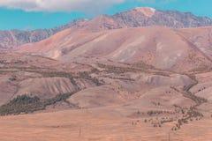 όψη κοιλάδων της Ουκρανίας βουνών της Κριμαίας Στοκ εικόνα με δικαίωμα ελεύθερης χρήσης