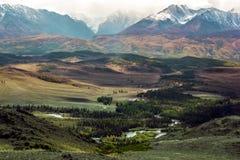 όψη κοιλάδων της Ουκρανίας βουνών της Κριμαίας Στοκ Εικόνα