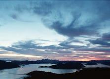 Όψη κόλπων dusk Στοκ Φωτογραφία