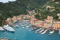 Όψη κόλπων Portofino Στοκ φωτογραφία με δικαίωμα ελεύθερης χρήσης