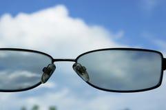 Όψη μέσω των γυαλιών Στοκ φωτογραφία με δικαίωμα ελεύθερης χρήσης