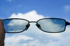 Όψη μέσω των γυαλιών Στοκ Φωτογραφία