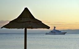 όψη νύχτας κόλπων aqaba Στοκ εικόνα με δικαίωμα ελεύθερης χρήσης