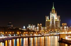 Όψη νύχτας της Μόσχας στοκ φωτογραφία