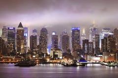 Όψη νύχτας της Νέας Υόρκης Στοκ Εικόνες