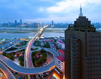 Όψη νύχτας της πόλης στοκ εικόνες με δικαίωμα ελεύθερης χρήσης