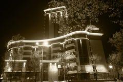 Όψη νύχτας της πόλης στοκ εικόνες
