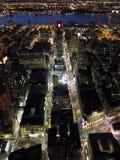 Όψη νύχτας του Μανχάτταν Στοκ Φωτογραφίες