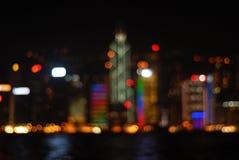 όψη νύχτας του Χογκ Κογκ Στοκ εικόνα με δικαίωμα ελεύθερης χρήσης
