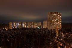 Όψη νύχτας Zelenograd στοκ εικόνα