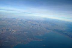 Όψη ουρανού του cloudscape και της γης Στοκ Εικόνα