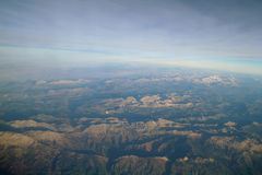 Όψη ουρανού του cloudscape και της γης Στοκ Εικόνες