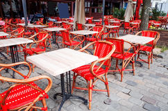 Όψη οδών ενός πεζουλιού καφέ Στοκ φωτογραφία με δικαίωμα ελεύθερης χρήσης
