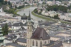 Όψη πέρα από το Σάλτζμπουργκ, Αυστρία Στοκ φωτογραφία με δικαίωμα ελεύθερης χρήσης