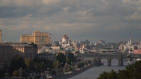 όψη ποταμών της Μόσχας απόθεμα βίντεο