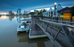 Όψη ποταμών Kuching στοκ εικόνες