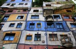 Όψη προοπτικής του σπιτιού Hundertwasser στη Βιέννη Στοκ Φωτογραφίες