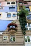 Όψη προοπτικής του σπιτιού Hundertwasser στη Βιέννη Στοκ φωτογραφία με δικαίωμα ελεύθερης χρήσης