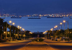 όψη πρωινού κόλπων aqaba Στοκ φωτογραφία με δικαίωμα ελεύθερης χρήσης