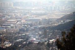 όψη πόλεων του Πεκίνου στοκ εικόνες με δικαίωμα ελεύθερης χρήσης