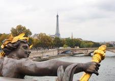 όψη πύργων του Άιφελ Γαλλία Παρίσι Στοκ Εικόνες