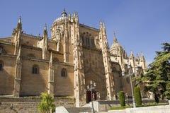 όψη Σαλαμάνκας Ισπανία κινηματογραφήσεων σε πρώτο πλάνο καθεδρικών ναών Στοκ εικόνα με δικαίωμα ελεύθερης χρήσης