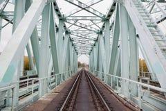 όψη σιδηροδρόμων ραγών προ&omicro στοκ φωτογραφία με δικαίωμα ελεύθερης χρήσης