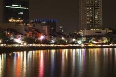 όψη Σινγκαπούρης νύχτας Στοκ φωτογραφίες με δικαίωμα ελεύθερης χρήσης