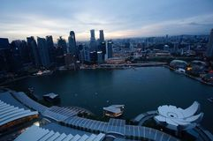 όψη Σινγκαπούρης ποταμών Στοκ Εικόνες