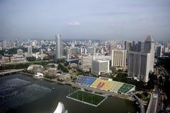 όψη Σινγκαπούρης πόλεων Στοκ Εικόνα